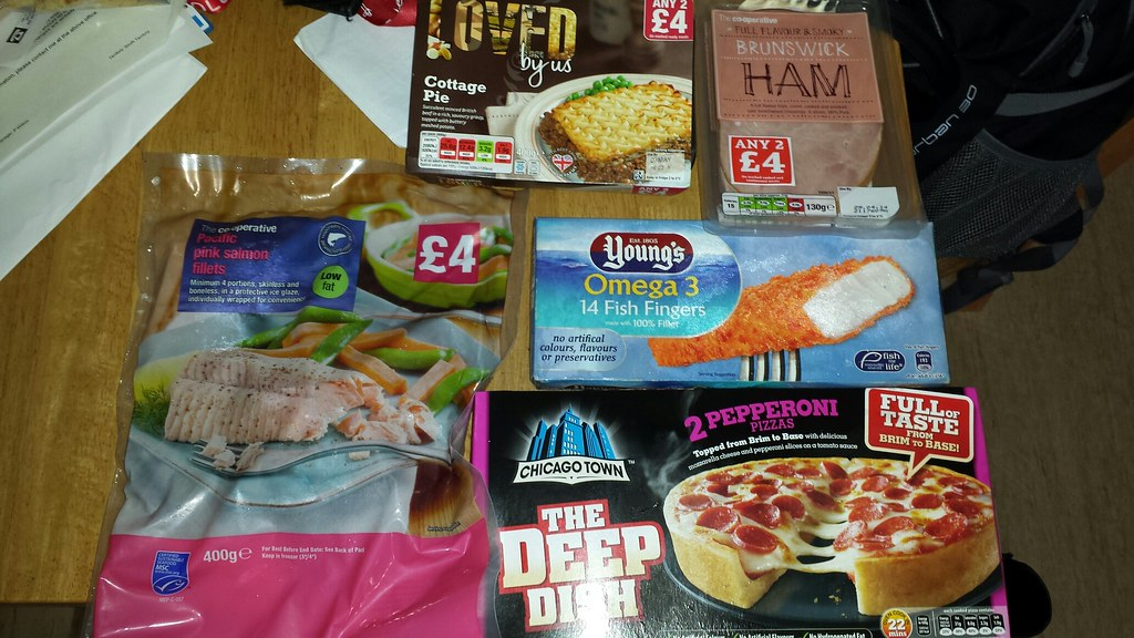 Purchases From My Local Co Op Cottage Pie Pink Salmon De