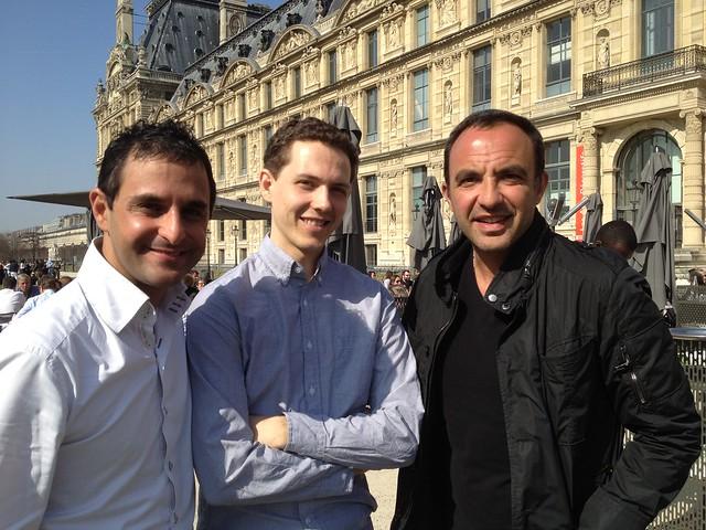 A Paris avec Nikos Aliagas, Marc Maniez (Manager chez Twitter Inc. à San Francisco) et Arash Derambarsh