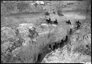 00405 Grand Canyon Historic Kaibab Trail: Mules in Chimney | by Grand Canyon NPS