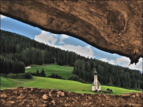 trees sky italy verde green church alberi clouds fence italia nuvole meadows chiesa cielo fields dolomites dolomiti campi prati trentinoaltoadige magicunicornverybest
