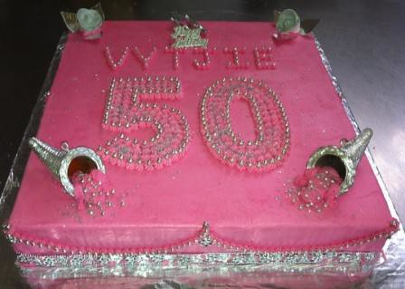 Stupendous 50Th Birthday Bling Sheet Cake All Our Sheet Cakes Have Fi Flickr Funny Birthday Cards Online Alyptdamsfinfo