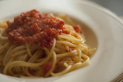 Pasta with tomatoes   by Luca Nebuloni