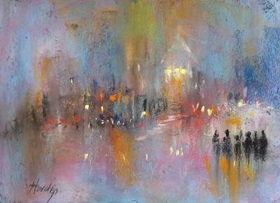 London imagination pastel painting