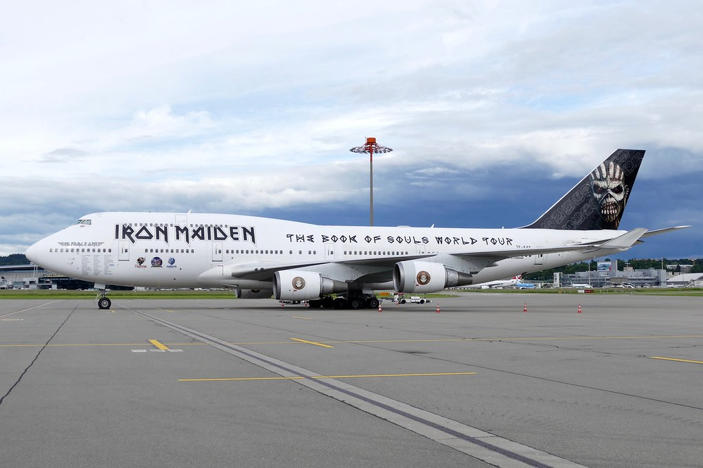Boeing B747 428  Ed Force One Iron Maiden Air Atlanta Icelandic TF-AAK ZRH Zurich Airport Switzerland 20160602