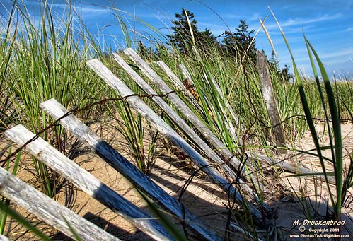 Singing Sands, Basin Head' Prince Edward Island dune fence | by PhotosToArtByMike