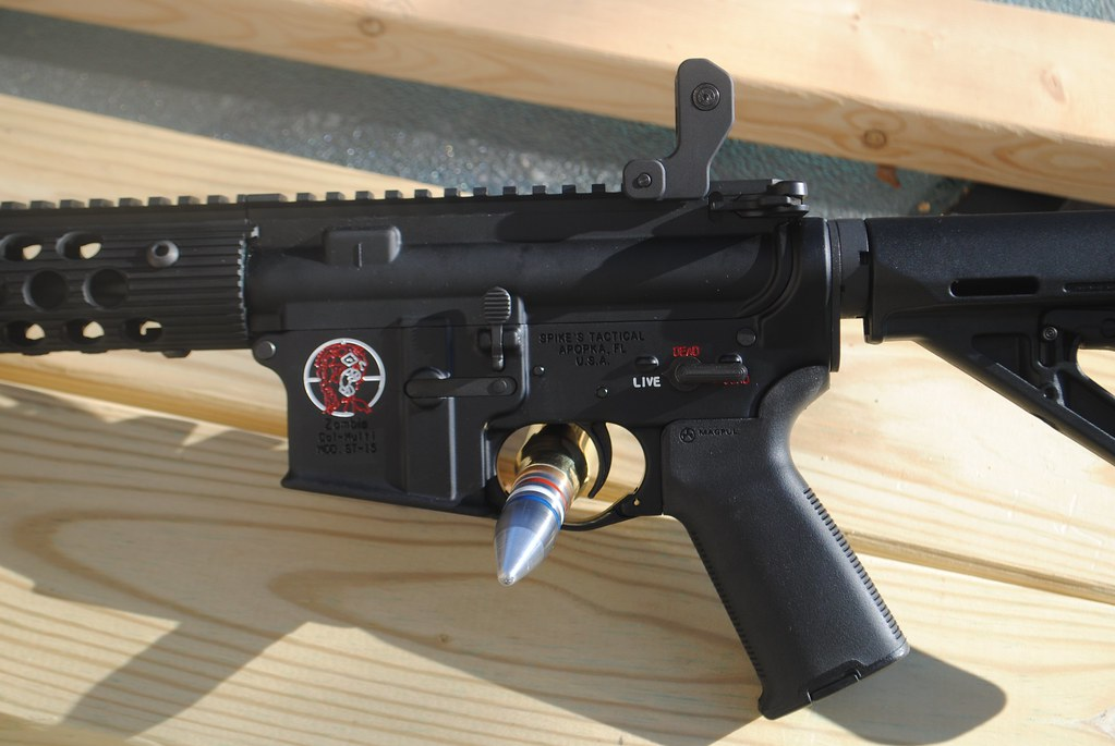 Zombie Slayer AR-15 Lower   Spikes zombie lower with color f