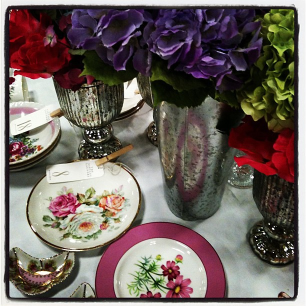 Gearing up for spring with bright flowers and happy vintage china!
