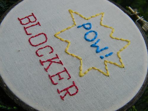 Roller Derby Blocker Embroidery Hoop Art | by Hey Paul Studios