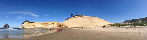 panorama usa beach oregon landscape us sand unitedstatesofamerica explore sanddune pacificcity capekiwanda