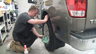 Vehicle Detailing - Wiping Down the Tires and Rims | by Rightlook.com