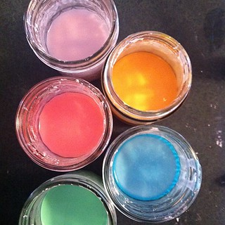Homemade sidewalk chalk paint | by amberdegrace