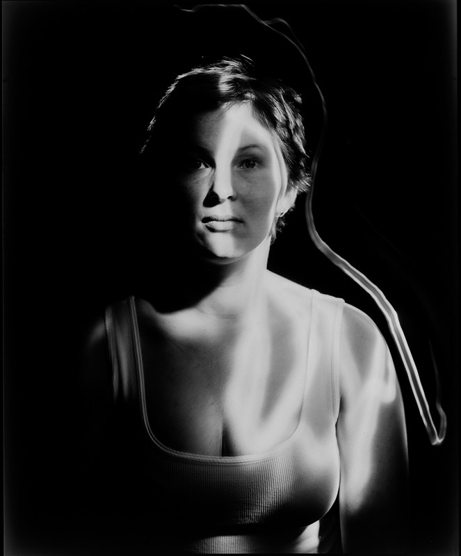 Trine, moving light portrait