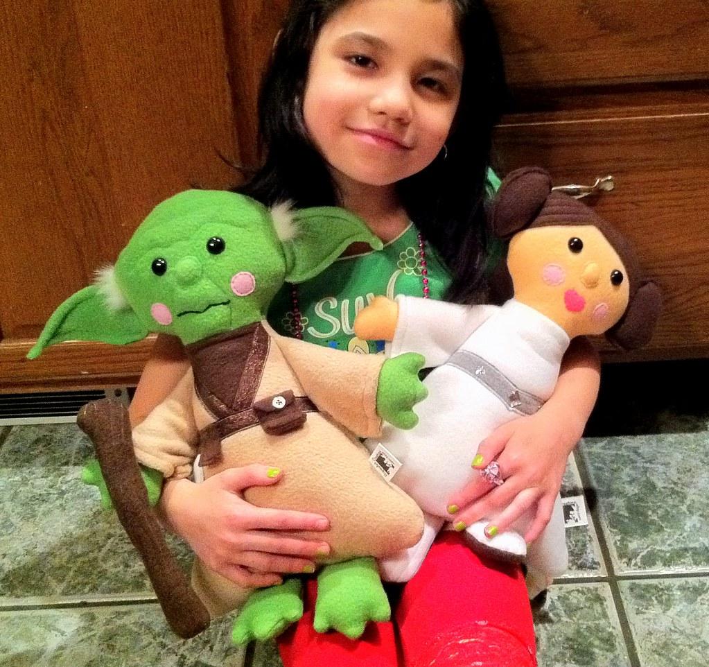 Star Wars Fan Art Master Yoda And Princess Leia Plush Doll Flickr