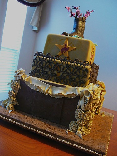 Texas Wedding Cake side view | by Cake Doctor, LLC