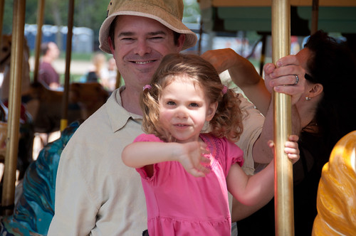 Extended Family and Friends: Don and Sarah on Merry-Go-Round | by sfusswork