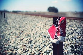 Railway and sneakers | by Lain de macias   |   Believe in me