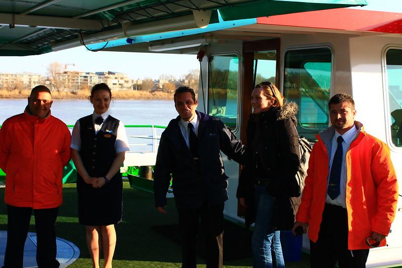 Une partie de l'équipe du navire - Visite du ms Princesse d'Aquitaine, 09 mars 2012, Bordeaux