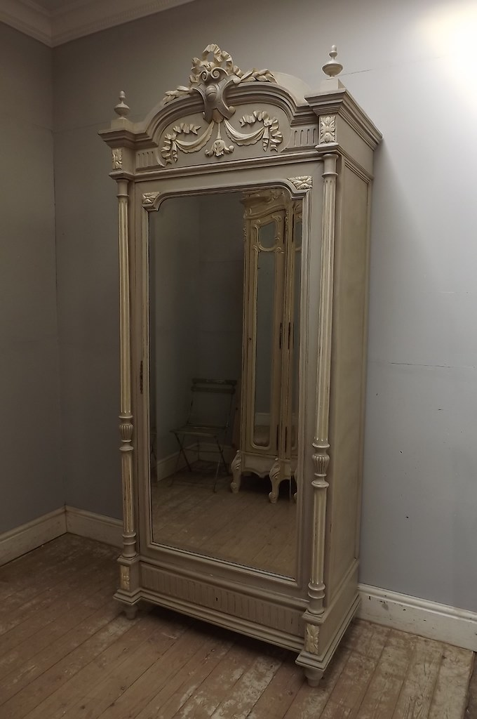 Antique French Louis XVI Single Door Armoire Shabby Chic B ...