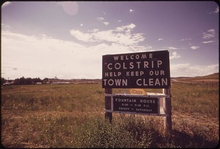 The site of one of the four power plants planned for the Colstrip area, 06/1973.