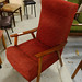 Retro Red Fabric Armchair