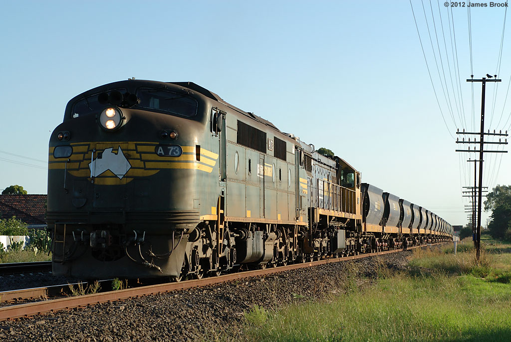 A73 and X41 near Jacana with 9319 by James Brook