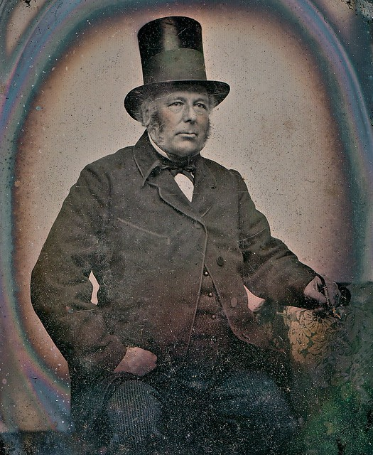 Scotsman in a Top Hat With Crepe Mourning Band, 1/4th-Plate Ambrotype, Circa 1858