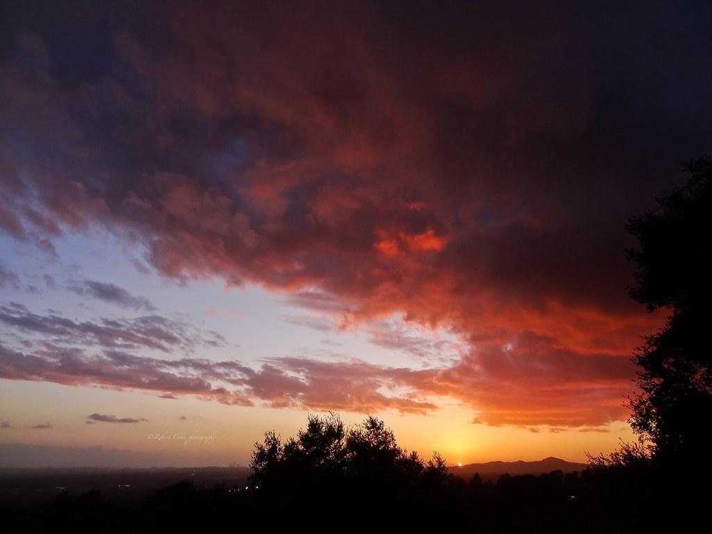Wild sky on the eve of St. Valentine