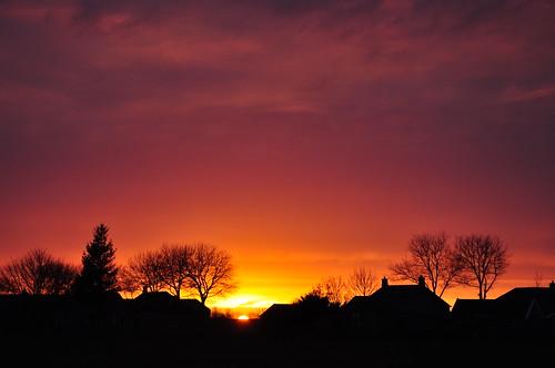 sunset sky colors backlight silhouettes groningen henk usquert nikond90 powerfocusfotografie