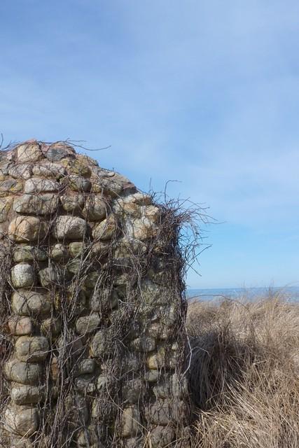 Stone Wall by Linger Longer Inn
