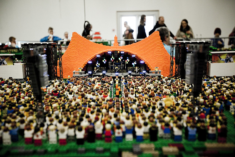 Orange Stage at LEGO World
