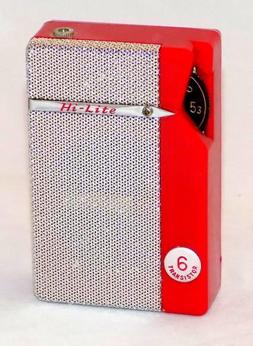 Vintage Hi-Lite Transistor Radio, Model YTR-601, AM Band, 6 Transistors, Made In Japan, Circa 1960s   by France1978