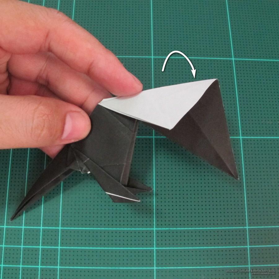 วิธีการพับกระดาษเป็นรูปจิงโจ้ (Origami Kangaroo) 026