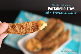 Oven Baked Portabello Fries with Sriracha Mayo | by The Culinary Chronicles