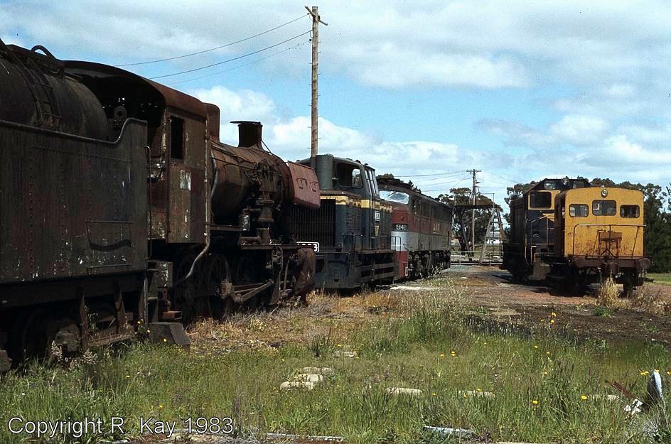 J-549 and diesel locos at Ararat Loco Depot by Robert Kay