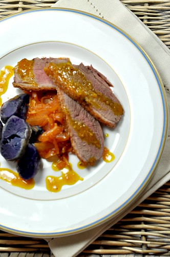 Duck Breast with Caramelized Onions & Orange Sauce | by - Caillean -