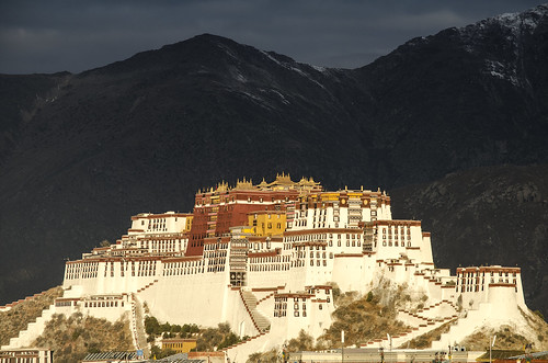 china sunrise asian asia palace tibet lhasa potala