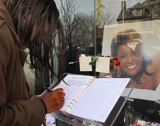 Whitney Houston Funeral Photos
