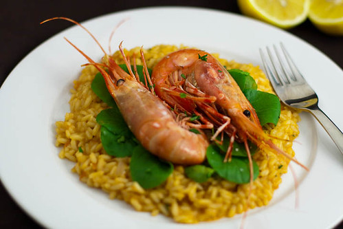 spot prawn risotto | by liminaldreams