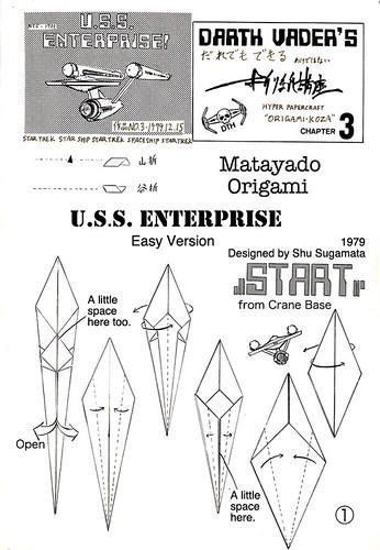 USS.ENTERPRISE origami diagram Easy version 1 | by Matayado-titi