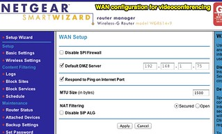 NETGEAR Router - WAN configuration for videoconferencing | Flickr