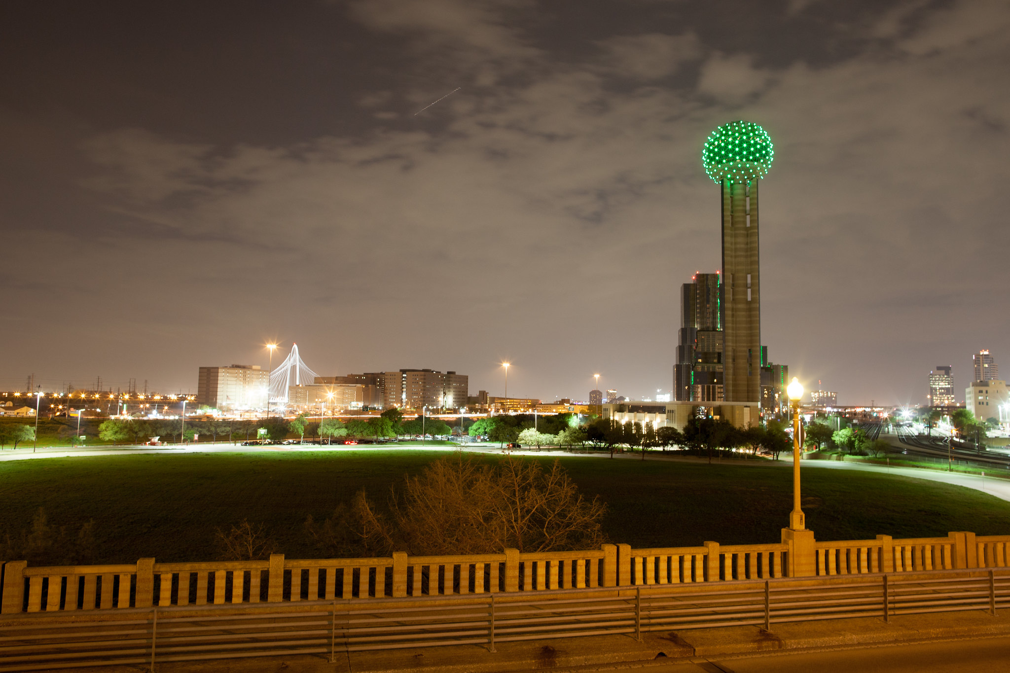 reunion tower - st. patrick's day