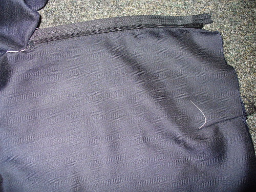 trouser zip - sewing the left hand side