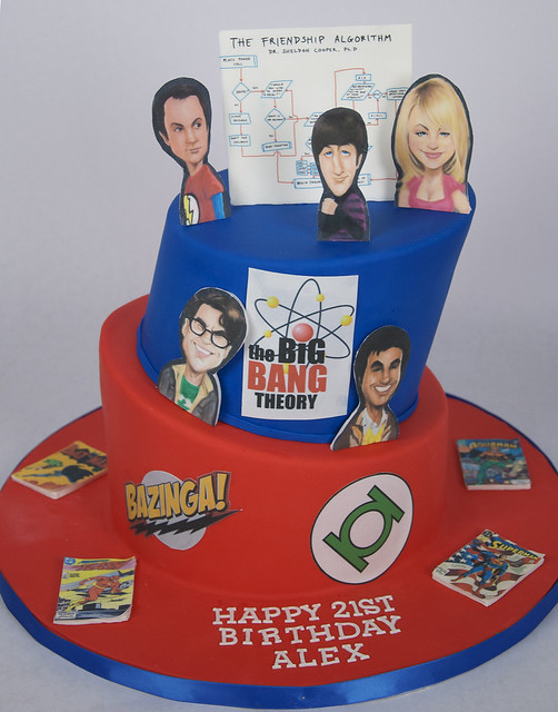 BC4196 - big bang theory cake toronto