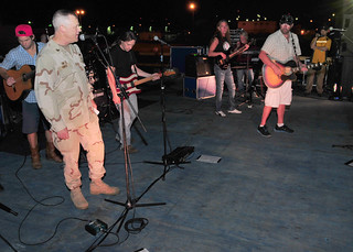 Navy leadership introduce Award-winning country music superstar Toby Keith to the stage at Camp Lemonnier. | by Official U.S. Navy Imagery