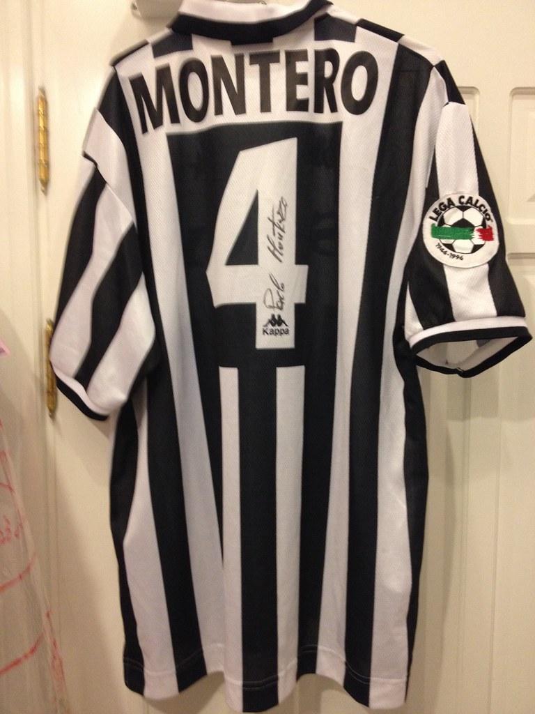 new concept 32d51 d9adc Juventus Montero signed matchworn shirt 1996-97 | Size Xl Pr ...