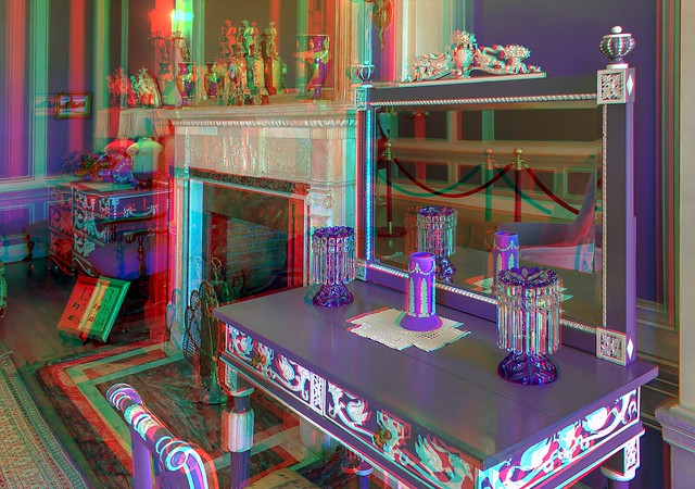 Interior of Casa Loma 3-D ::: HDR/Raw Anaglyph Stereoscopy
