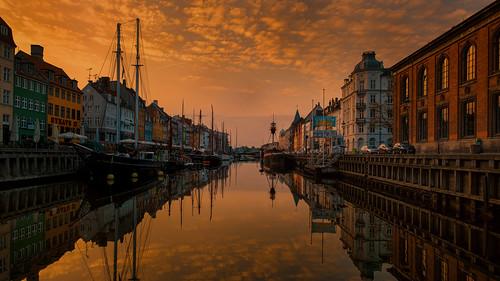 sunset sunrise denmark kobenhavn