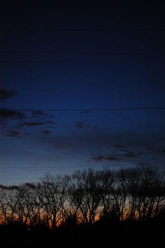 sunset sky silhouette clouds evening
