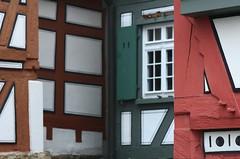 Bietigheim-Bissingen Germany 'Lens Nikon 105mm f/2.8G IF-ED AF-S VR Micro Nikkor' Half-Timbered 'timber-framed building'