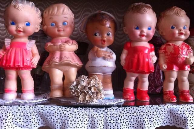 Vintage squeaky toys...♥